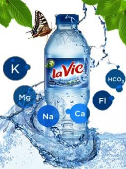 Nước khoáng thiên nhiên La Vie chai 350ml - thùng 24 chai