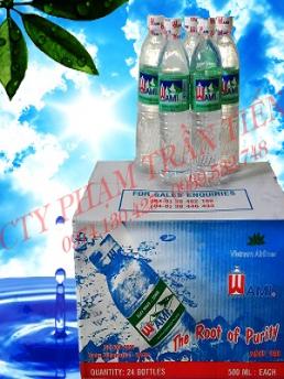 Nước uống tinh khiết Wami chai 500ml - thùng 24 chai