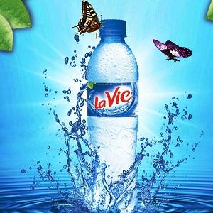 Nước khoáng thiên nhiên La Vie chai 500 ml - thùng 24 chai
