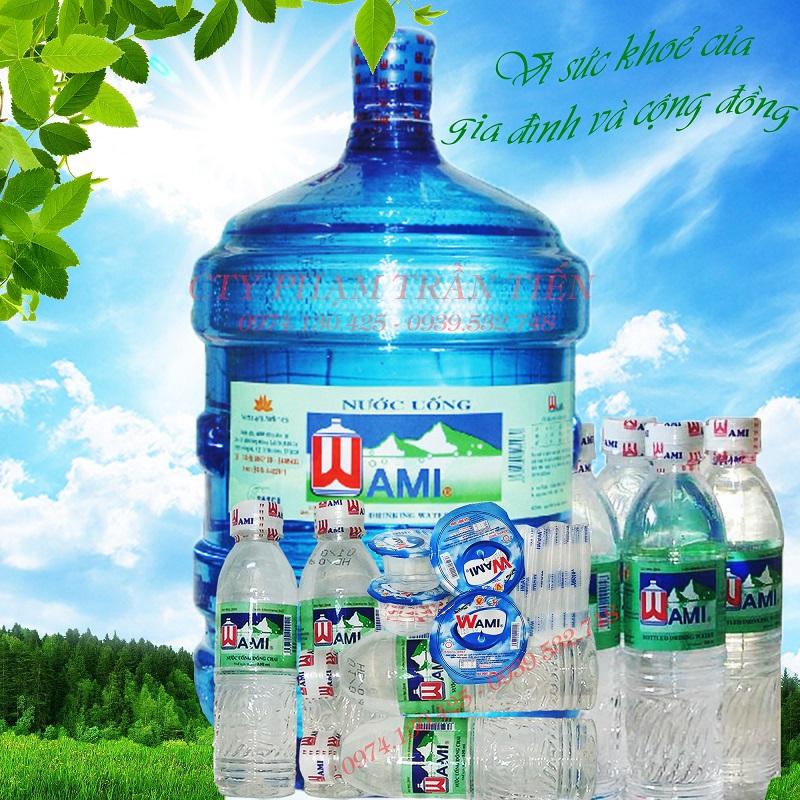 Nước uống tinh khiết Wami chai 330ml - thùng 24 chai